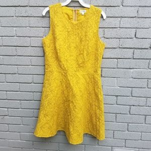 Maison Jules mustard textured dress large